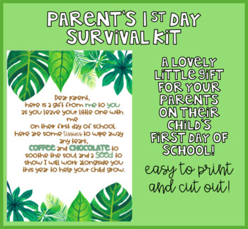 Parent's First Day Survival Kit - Gift Idea for the 1st Day of School