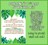 Parent's First Day Survival Kit - Gift Idea for the 1st Da
