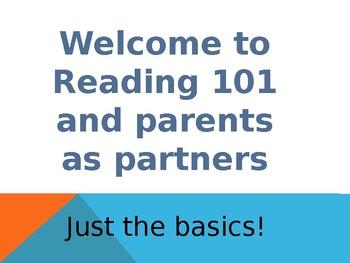 Parent's Night - A slide show teaching parents important c