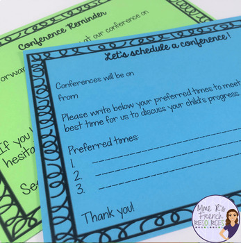 Parent/teacher conference forms and behavior contracts for secondary teachers