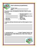 Parent teacher conference per-questionaire