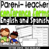Parent teacher conferences forms- English and Spanish conferencias