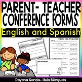Parent teacher conferences forms- English and Spanish conferencias