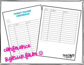 Parent teacher conferences sign up