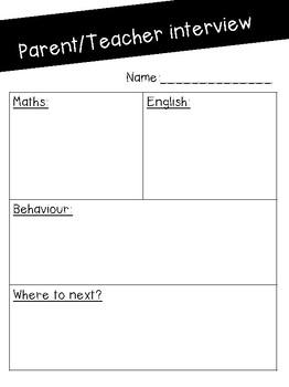 Parent/teacher interview forms