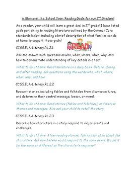 Parent tips for 2nd grade reading standards