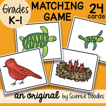 Parent to Offspring Matching Game (K-1) by Science Doodles