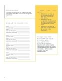 Parent volunteer signup sheet