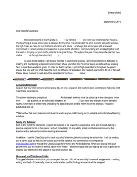 Back-to-School Family Welcome Letter Single Teacher and Co-Teaching Team