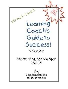 Parent/Learning Coach Guide To Success- Start of School Year!