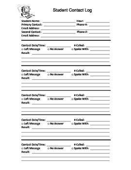 Parent/Student Contact Log