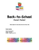 Parent/Student Info Packet