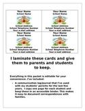 Parent/Teacher Communication Binder