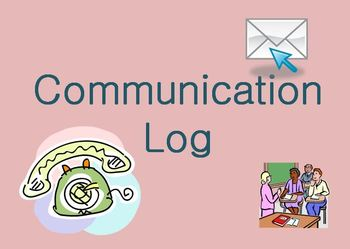 Parent/Teacher Communication Log