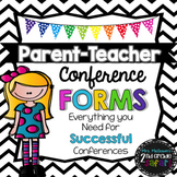Parent-Teacher Conference Forms! Now in EDITABLE format!