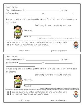 Parent/Teacher Conference Confirmation