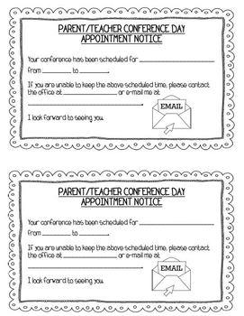 Parent/Teacher Conference Forms