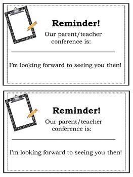 Parent Teacher Conference Print & Go Packet