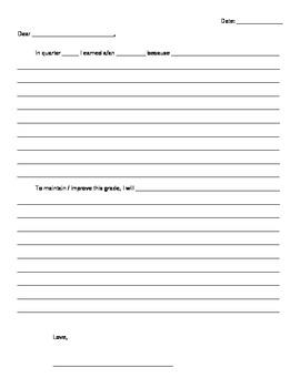 Parent/Teacher Conferences Letter