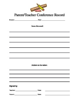 Parent/Teacher Interview Record