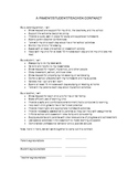 Parent/Teacher/Student Contract