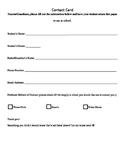Parental Contact Card