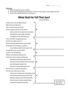 Parental Guidance: A Thematic Poetry Unit
