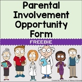 Parental Involvement Opportunities Form