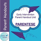 Early Intervention Parent Handout Unit: Parentese