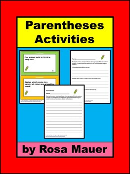 Parentheses Activities
