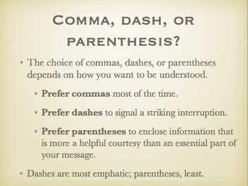Parentheses, Brackets, and Dashes grammar lesson