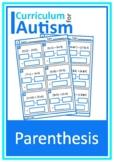 Parenthesis Equations PEMDAS Worksheets Autism
