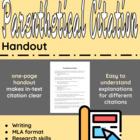 Parenthetical Citation Handout