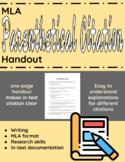 MLA Parenthetical Citation Handout