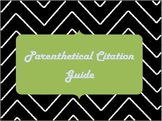 Parenthetical Citations Quick-Guide