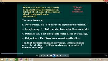 Parenthetical Documentation Explanation