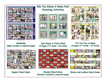 Parenting Activities 6 Board Game Bundle