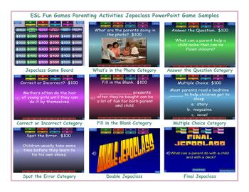 Parenting Activities Jeopardy PowerPoint Game