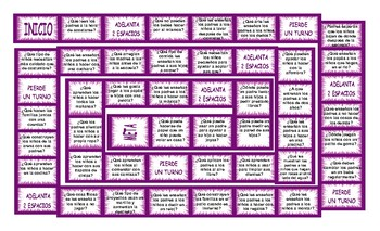 Parenting Activities Spanish Board Game