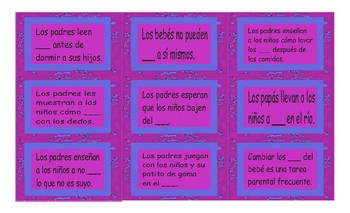 Parenting Activities Spanish Card Game