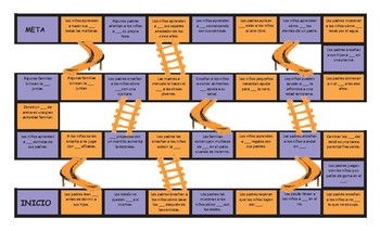 Parenting Activities Spanish Slides and Stairs Board Game
