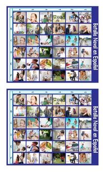 Parenting Activities Spanish Legal Size Photo Battleship Game