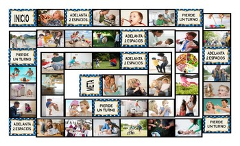 Parenting Activities Spanish Legal Size Photo Board Game