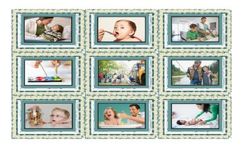 Parenting Activities Spanish Legal Size Photo Card Game