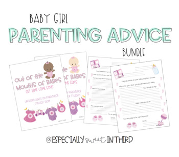 Parenting Advice Book Gift for Expectant Teacher (Baby Girl BUNDLE)