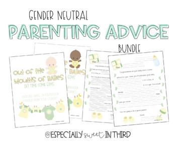 Parenting Advice Book Gift for Expectant Teacher (Gender Neutral BUNDLE)