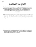 Parenting Situations Preschool Age Worksheet for FCS Child Development