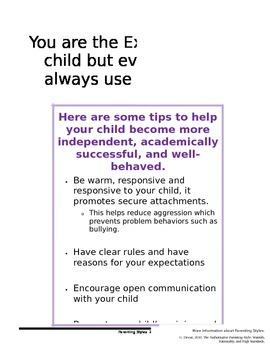 Parenting Styles Handout