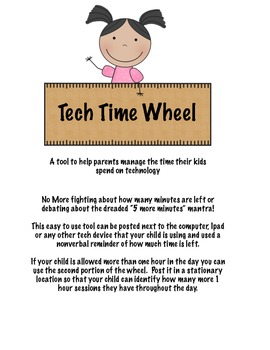 Parenting Tool - Tech Time Wheel
