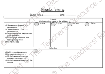 Parents Day / Evening template
